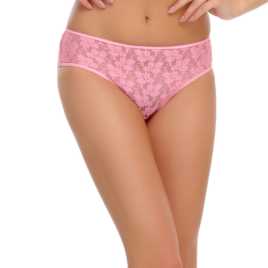 Clovia All Over Lace Sexy Brief In Light Pink  available at Nykaa for Rs.200