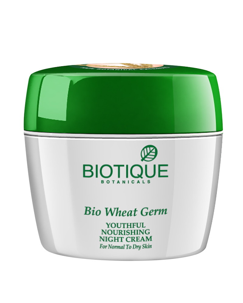 Biotique Wheat Germ Youthful Nourshing Night Cream  available at Nykaa for Rs.173
