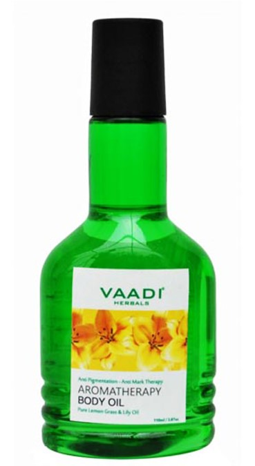 Vaadi Herbals Aromatherapy Body Oil With Pure Lemon Grass & Lily Oil  available at Nykaa for Rs.110