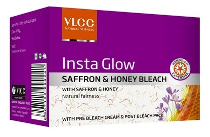 VLCC Insta Glow Saffron & Honey Bleach  available at Nykaa for Rs.46