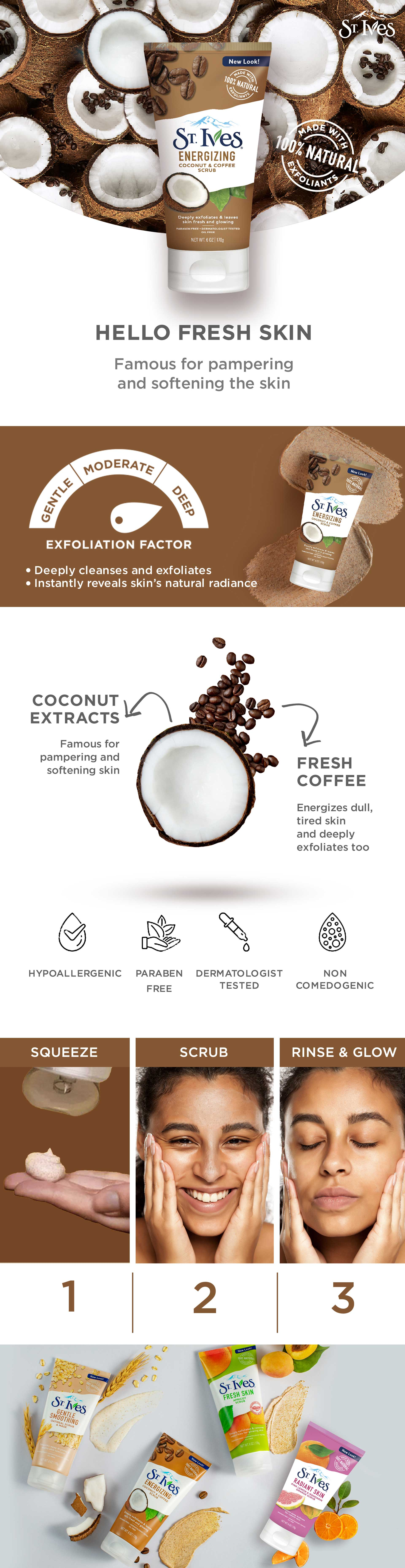 St Ives Energizing Coconut Coffee Scrub Buy St Ives Energizing Coconut Coffee Scrub Online At Best Price In India Nykaaman