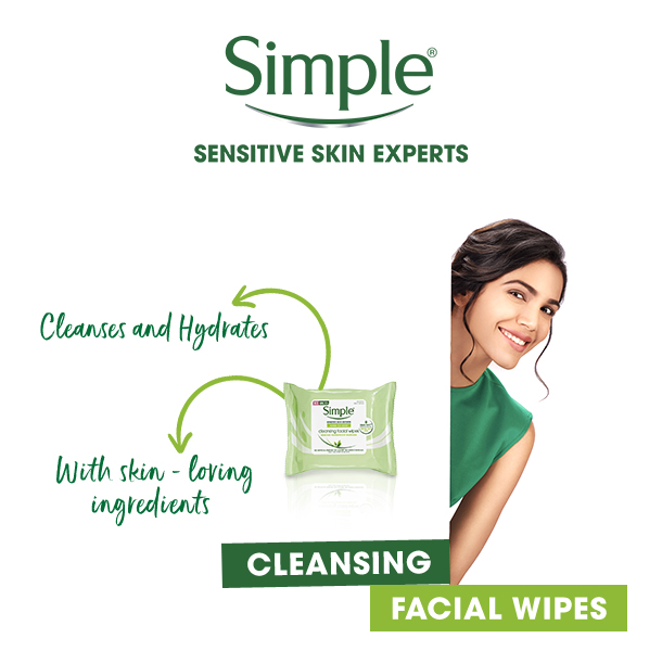 Cleansing facial wipes banner