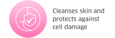 Cleanses skin and protects against cell damage