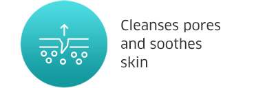 Cleanses pores and soothes skin