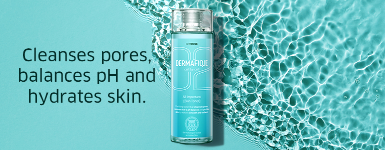 Cleanses pores, balances pH and hydrates skin.