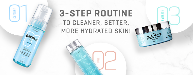 #-step routine to cleaner, better, more hydrated skin!