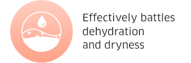 Effectively battles dehydration and dryness