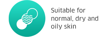 Suitable for normal, dry and oily skin