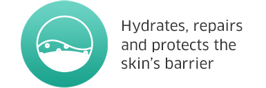 Hydrates, repairs and protects the skins barrier