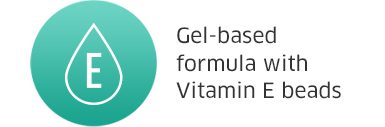 Gel-based formula with Vitamin E beads
