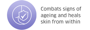 Combats sign of ageing and heals skin from within
