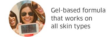 Gel-based formula that works on all skin types