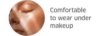 Comfortable to wear under makeup