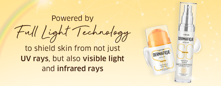 Powered by Full Light Technology to shield skin fromnot just UV rays, but also visible light and infrared rays