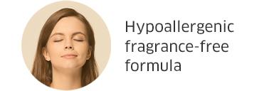 Hypoallergenic fragrance-free formula