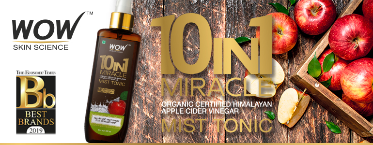 WOW Skin Science 10 in 1 Miracle Apple Cider Vinegar Mist Tonic