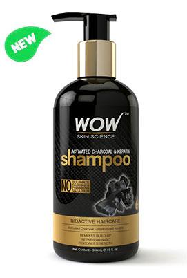 WOW Skin Science Charcoal & Keratin Shampoo bottle