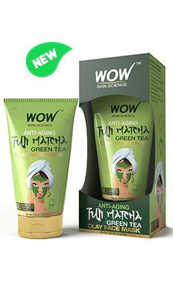 WOW Skin Science Anti-Aging Fuji Matcha Green Tea Clay Face Mask
