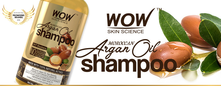 WOW Skin Science Moroccan Argan Oil Shampoo banner image