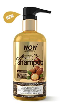 WOW Skin Science Moroccan Argan Oil Shampoo bottle