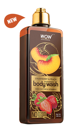 WOW Skin Science Strawberry & Peach Foaming Body Wash