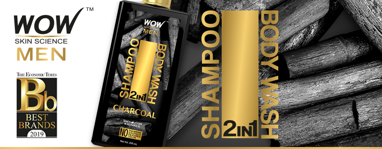 WOW Skin Science Charcoal 2 In 1 Shampoo & Body Wash