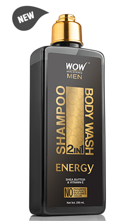 WOW Skin Science Energy 2 In 1 Shampoo & Body Wash