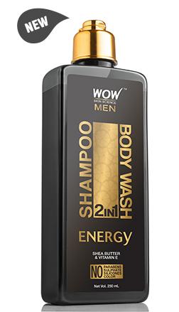 WOW Skin Science Energy 2 In 1 Shampoo & Body Wash