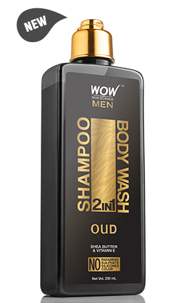 WOW Skin Science Oudh 2 In 1 Shampoo & Body Wash