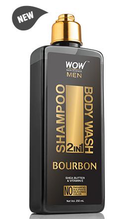 WOW Skin Science Bourbon 2 In 1 Shampoo & Body Wash