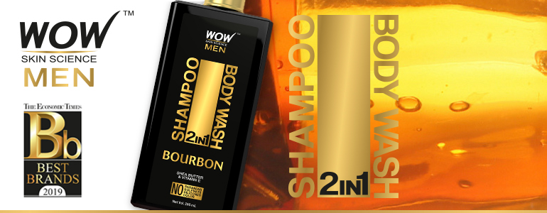 WOW Skin Science Bourbon 2 In 1 Shampoo & Body Wash