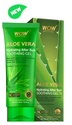WOW Skin Science Aloe Vera Hydrating After Sun Soothing Gel