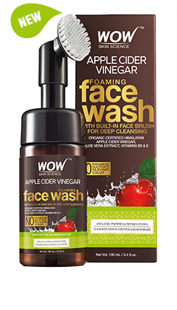 WOW Skin Science Apple Cider Vinegar Foaming Face Wash