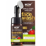 WOW Skin Science Apple Cider Vinegar Foaming Face Wash with Built-In Brush