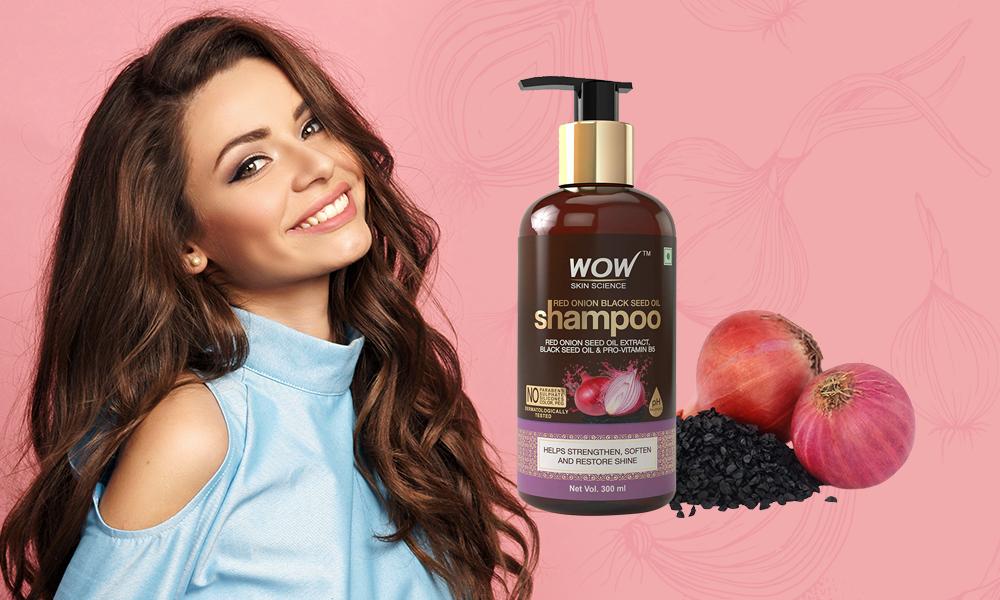 WOW Skin Science Red Onion Black Seed Oil Shampoo