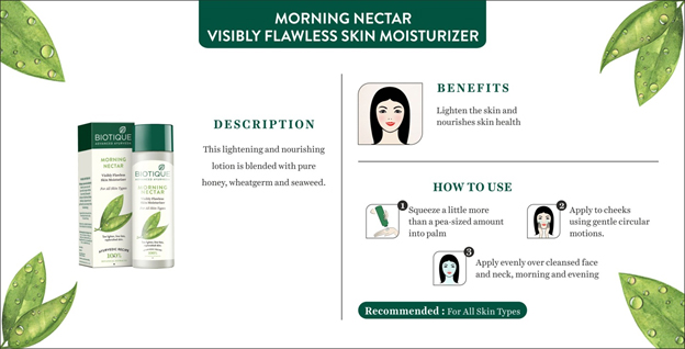 11f605f1b9 Biotique Morning Nectar Flawless Skin Moisturizer at Nykaa.com