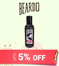 Get Online Offers on Beardo Products Upto 5% on purchase of any 2 products