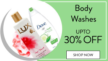 Get Online Offers on Body Washes Products Upto 30% off