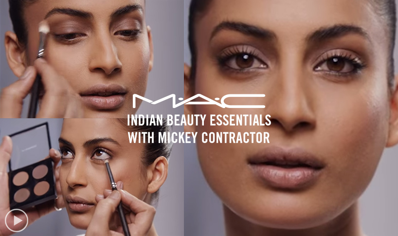 Create the quintessential Bollywood beauty look with tips from Director of Makeup Artistry Mickey Contractor
