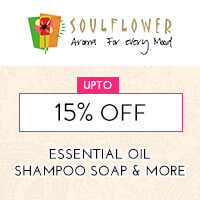 Get Online Offers on Soulflower Products Upto 15%