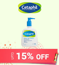 Get Online Offers on Cetaphil Products upto 15% off