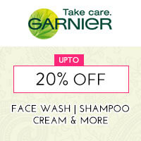 Get Online Offers on Garnier Products Upto 20% off