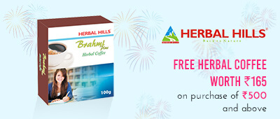 Get Online Offers on Herbal Hills Products Free Herbal coffee worth Rs. 165 with orders over Rs.500