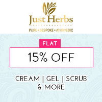 Get Online Offers on Just Herbs Products Flat 15%