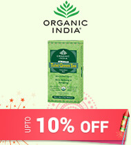 Get Online Offers on Organic India Products Upto 10% off