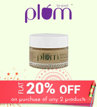 Get Online Offers on Plum Products Flat 20% on purchase of any 2 products
