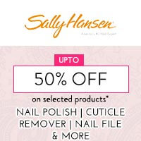 Get Online Offers on Sally Hansen Products Upto 50% on select skus