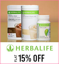 Get Online Offers on Herbal Life Products Flat 15%