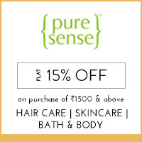 Puresense Flat 15% off on Purchase of 1500 and above