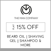 The Man Company Flat 15% off